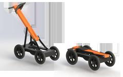 Foldable handcart Cart-46 for transportation of VIY5-37 ground penetrating radar