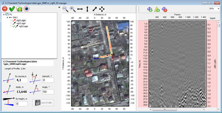 Example of Planner program with using of GPS