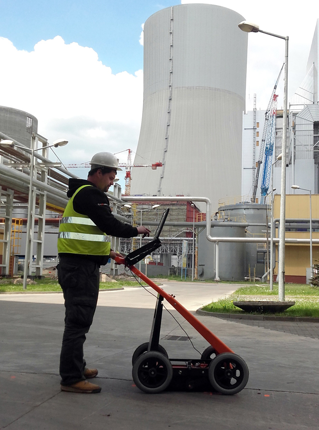 example of application of VIY3-300 Ground Penetrating radar