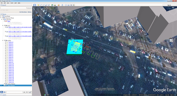 Example of export of Planner project to Google Earth