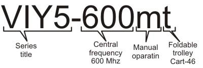 Information for ordering VIY5-600 GPR