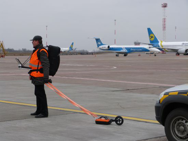 example of using VIY3-500 ground penetrating radar