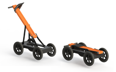 Foldable handcart Cart-46 for transportation of VIY5-37 ground penetrating radar
