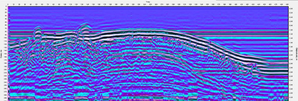 VIY3 ground penetrating radar profile from ecological investigation in Poland